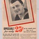 Old Dutch cleanser '40s PRINT AD Navy sailor vintage advertisement 1944