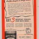 White House Evaporated Milk '40s PRINT AD vintage advertisement 1944
