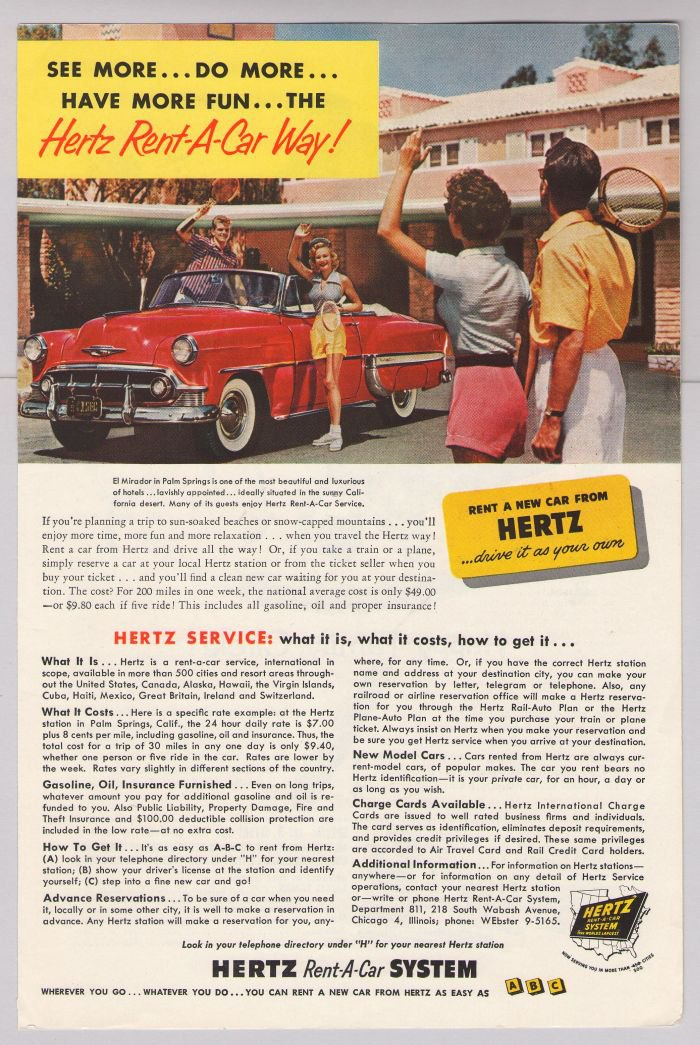 Palm Springs Hertz Rent A Car