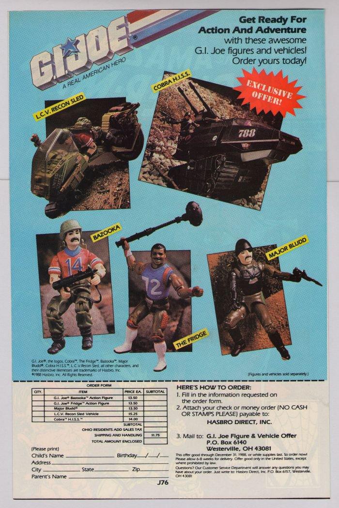 G.I. Joe action figures '80s PRINT AD toys vehicles GI Joe Hasbro vintage advertisement 1988