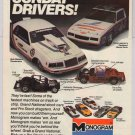 Monogram model kits '80s PRINT AD Bob Glidden, Terry Labonte stock cars vintage advertisement 1984