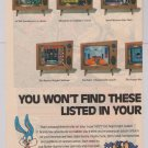 Tiny Toons: Buster Busts Loose '90s 2-page PRINT AD video game advertisement Konami Super NES 1993