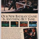 BATMAN RETURNS Catwoman Michelle Pfeiffer video game '90s PRINT AD Konami advertisement 1993