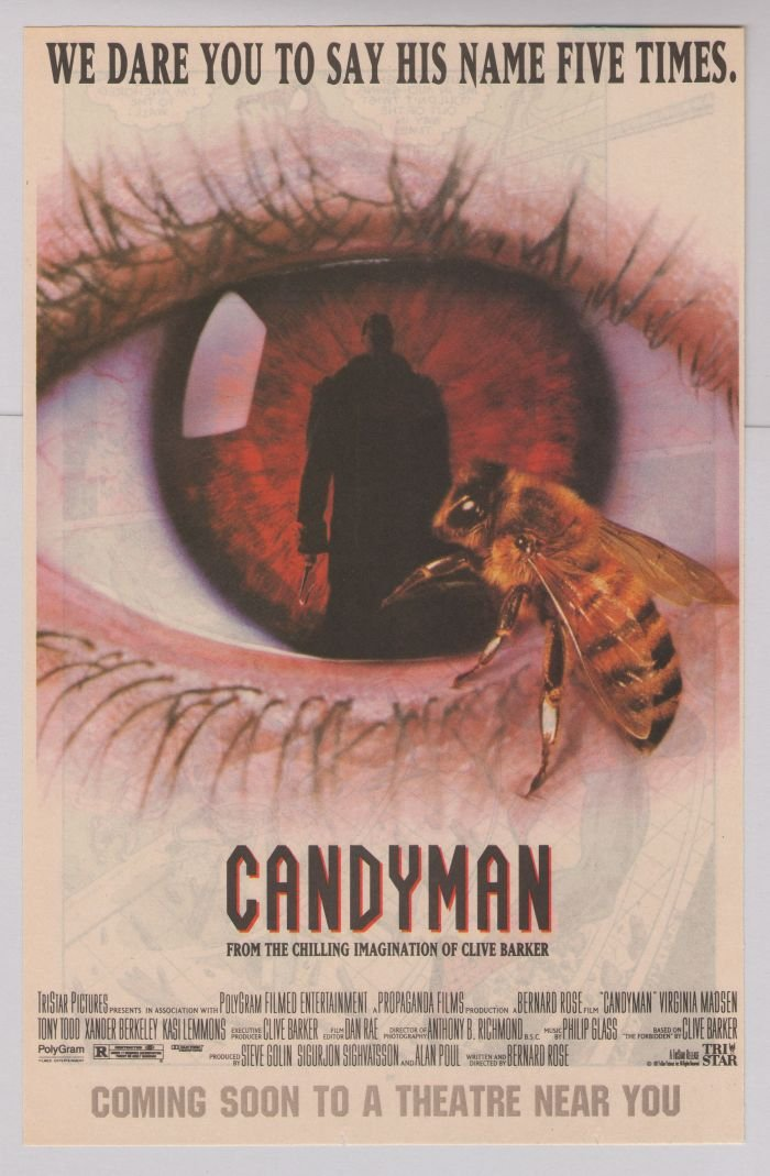 CANDYMAN Clive Barker horror movie '90s PRINT AD film advertisement 1992
