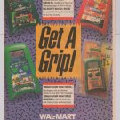 TMNT NASCAR handheld video games '90s PRINT AD Ninja Turtles Konami advertisement Wal-Mart 1991