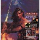 IRONSWORD video game '80s PRINT AD Fabio model Wizards & Warriors II advertisment 1989