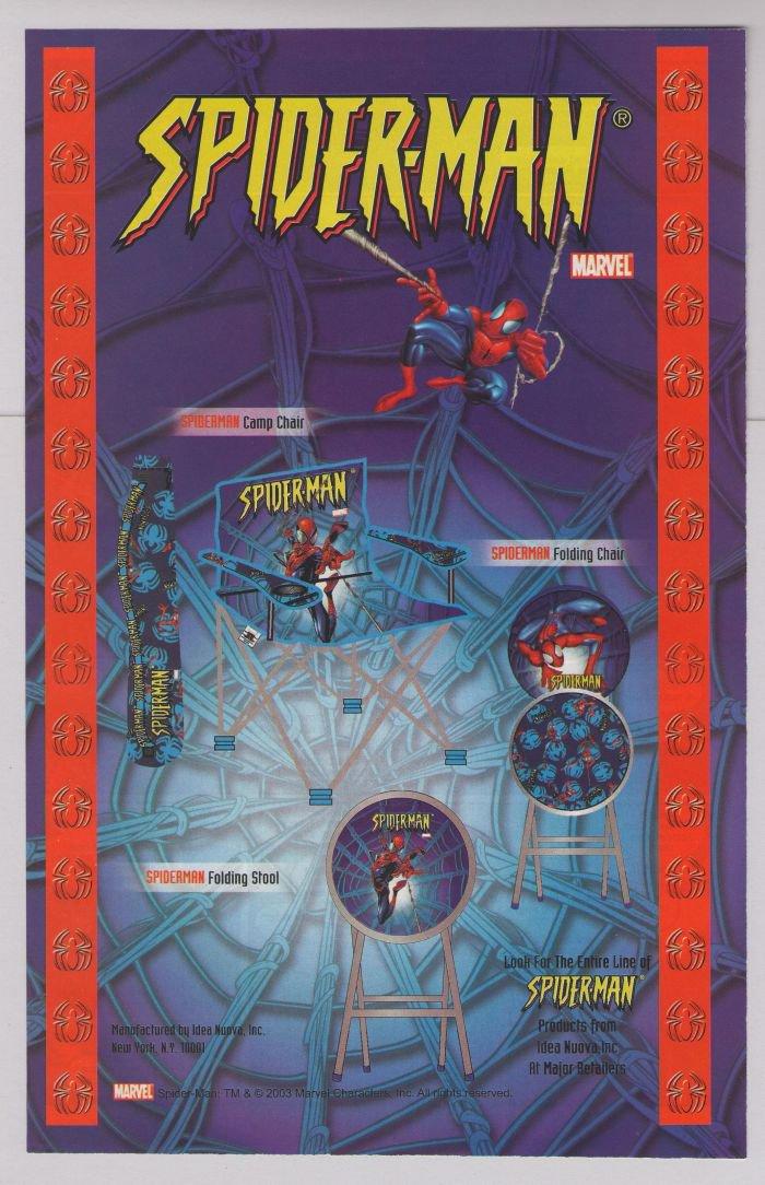 Spider-Man merchandise PRINT AD Marvel Comics super-hero chairs advertisement 2003