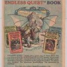 ENDLESS QUEST books '80s Larry Elmore PRINT AD Rose Estes TSR advertisement D&D 1982