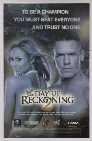 WWE Day of Reckoning 2-page PRINT AD video game wrestling