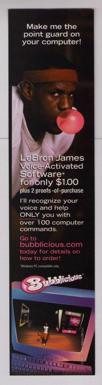 LEBRON JAMES Bubblicious PRINT AD bubble gum basketball advertisement 2004