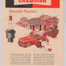 CHAMPION Spark Plugs '40s PRINT AD automotive auto vintage advertisement 1949
