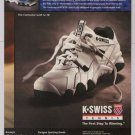 K-SWISS tennis shoes '90s PRINT AD Contestor advertisement 1996