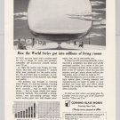 Corning Glass Works '50s PRINT AD baseball World Series television TV vintage advertisement 1953