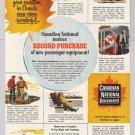 Canadian National Railways '50s PRINT AD passenger train vintage advertisement 1953