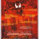 MAXIMUM CARNAGE video game '90s PRINT AD Spider-Man Venom advertisement 1994