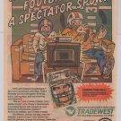 JOHN ELWAY'S QUARTERBACK video game '80s PRINT AD football vintage advertisement 1989