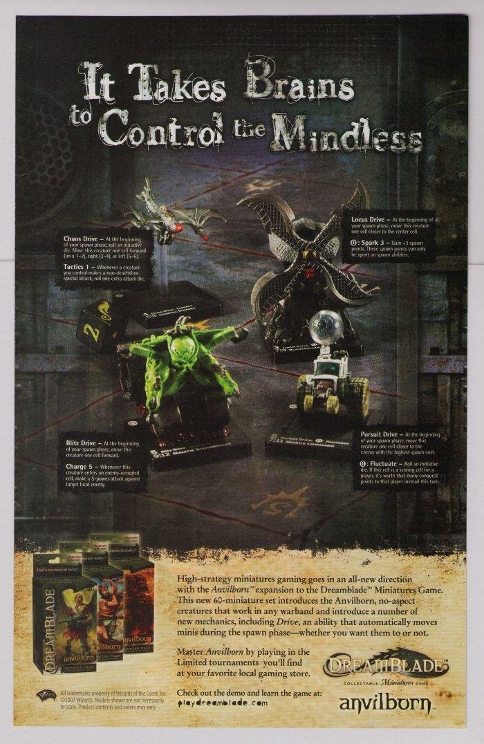 DREAMBLADE Anvilborn PRINT AD miniatures game Wizards advertisement 2007