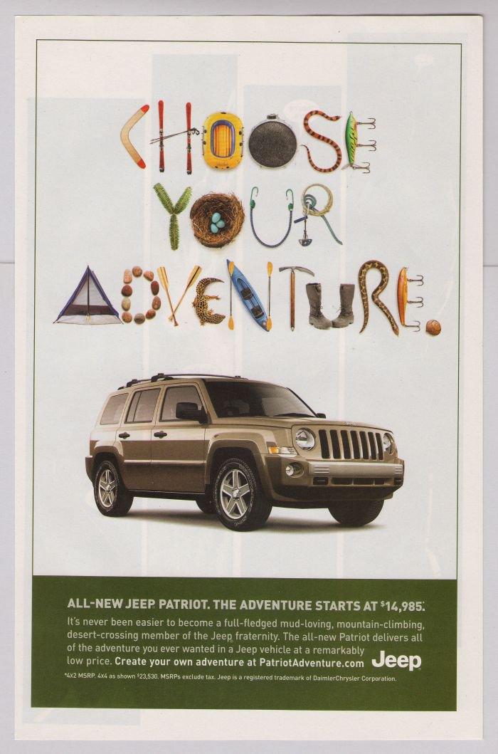 JEEP Patriot PRINT AD automobile car advertisement Choose ...