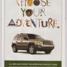 JEEP Patriot PRINT AD automobile car advertisement Choose Your Adventure 2007