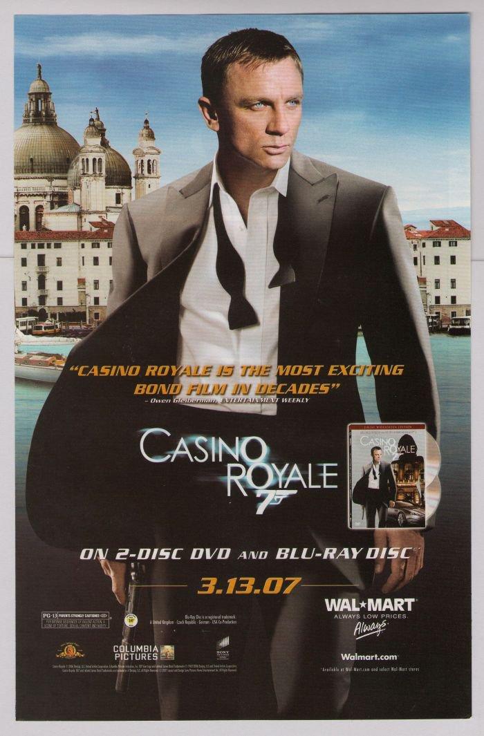 JAMES BOND Daniel Craig Casino Royale PRINT AD movie advertisement 2007