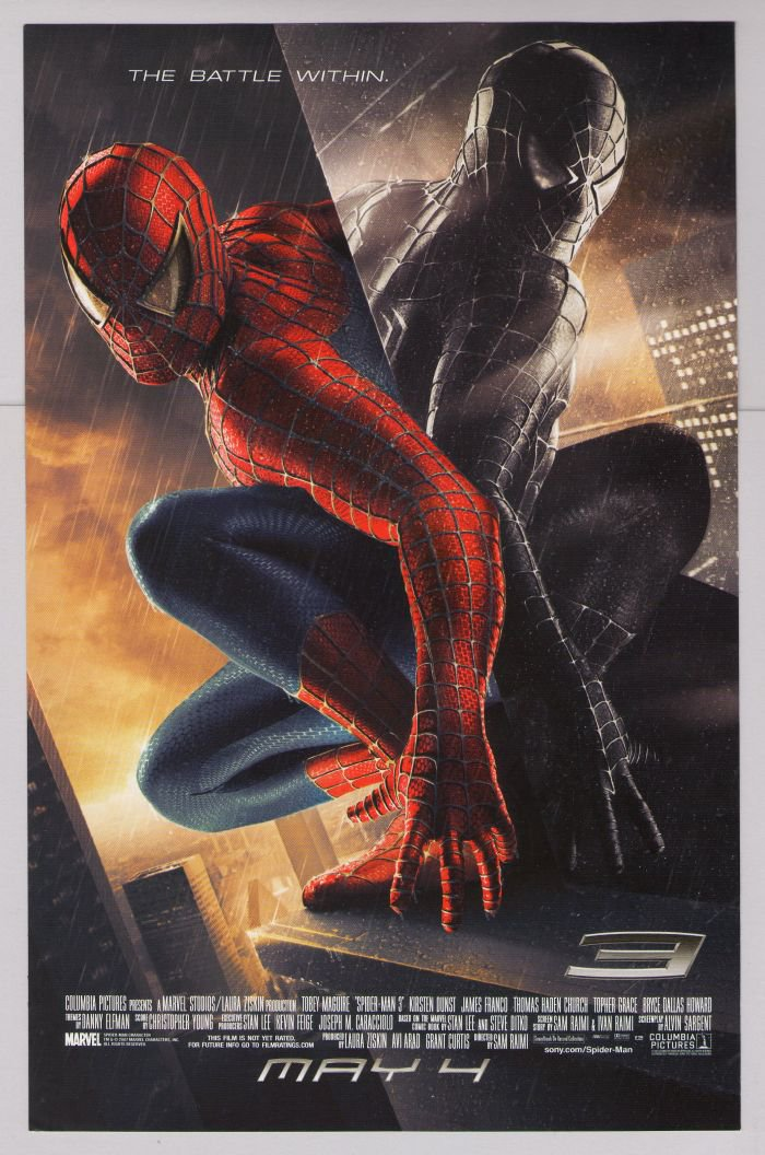 SPIDER-MAN 3 movie Venom PRINT AD film black costume advertisement 2007