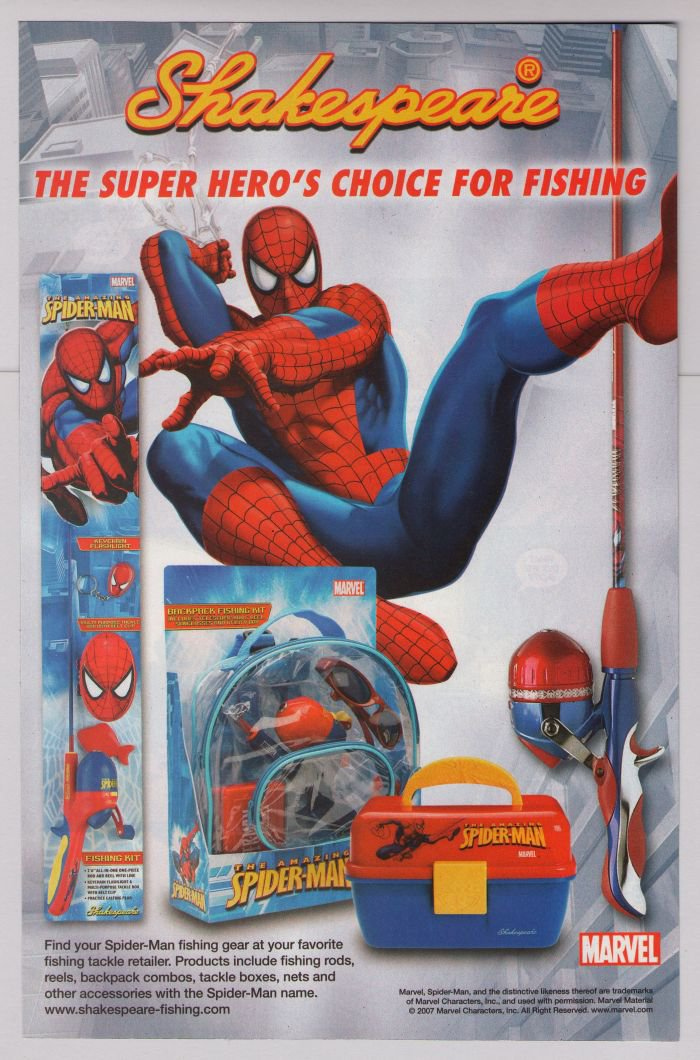 SPIDER-MAN Shakespeare PRINT AD fishing gear advertisement 2007