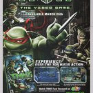 TMNT The Video Game PRINT AD Teenage Mutant Ninja Turtles Ubisoft advertisement 2007