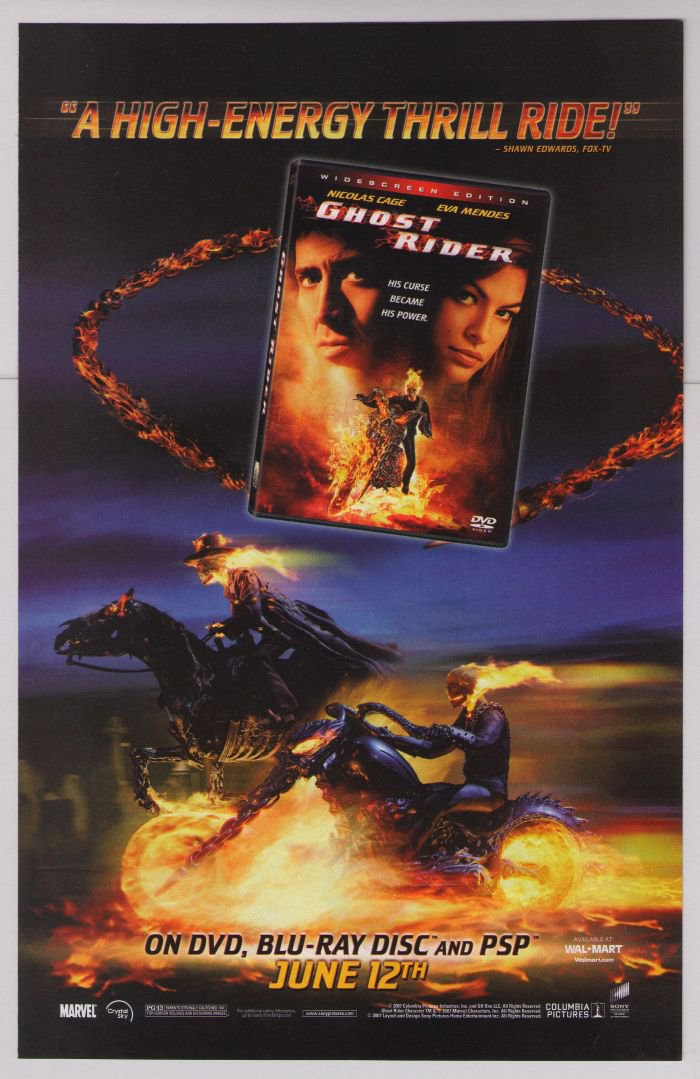 GHOST RIDER Nicolas Cage EVA MENDES movie PRINT AD advertisement 2007