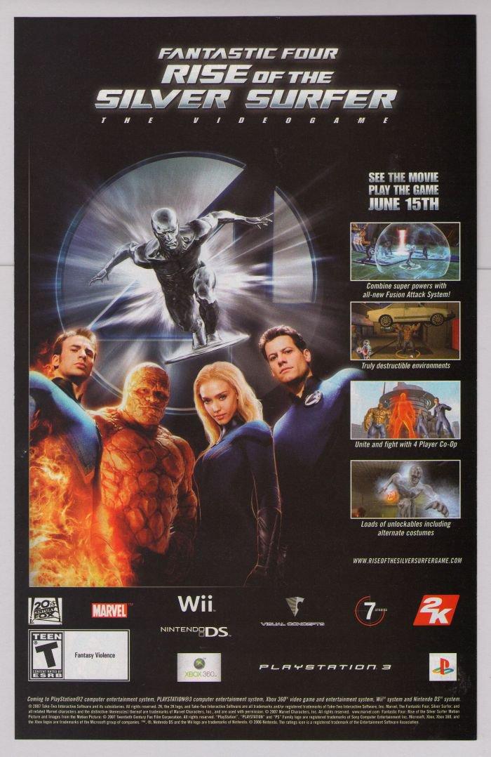 FANTASTIC FOUR video game PRINT AD Silver Surfer JESSICA ALBA advertisement 2007