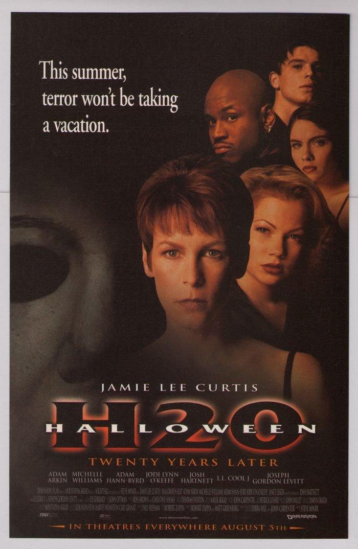HALLOWEEN H2O Jamie Lee Curtis movie '90s PRINT AD horror film advertisement 1998