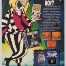 BEETLEJUICE video game '90s PRINT AD Game Boy advertisement 1991