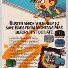 TINY TOONS video game '90s PRINT AD Monty Konami advertisement 1992