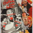 Captain Morgan Spiced Rum '90s PRINT AD pirate marker moustache advertisement 1995