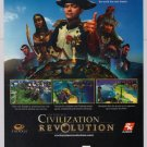 Civilization Revolution PRINT AD video game advertisement Napoleon Genghis Khan 2008