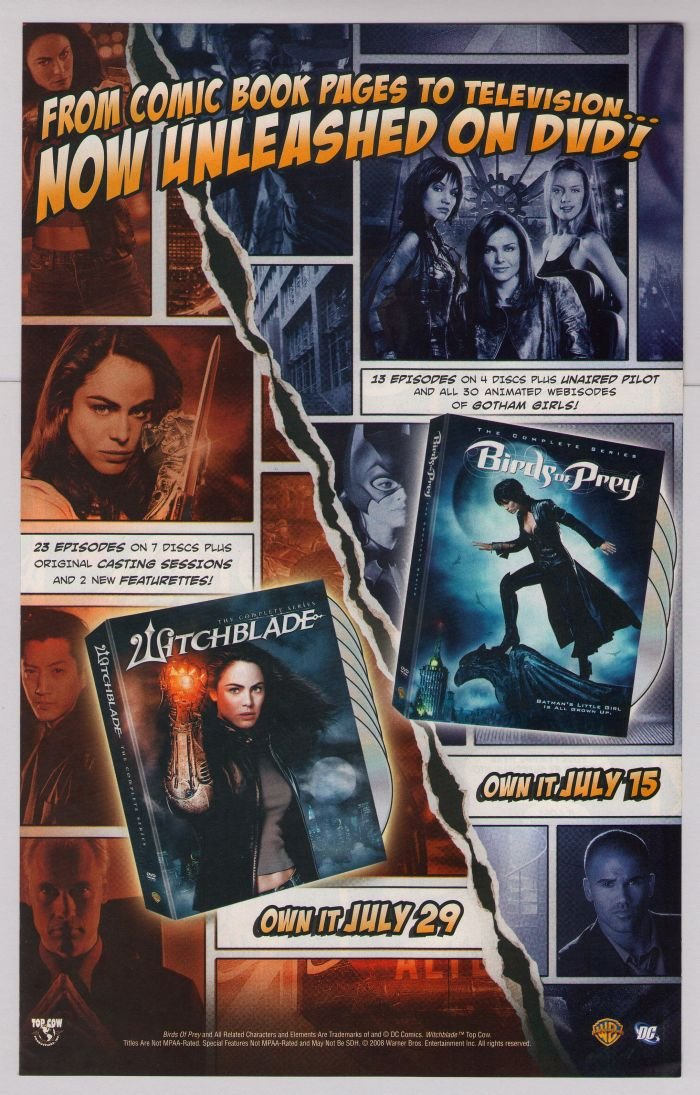 WITCHBLADE Birds of Prey PRINT AD Yancy Butler TV series DC Comics DVD advertisement 2008