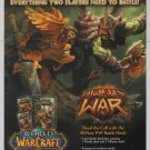 WORLD OF WARCRAFT Drums of War PRINT AD trading card game advertisement 2008