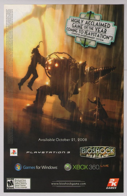 BIOSHOCK video game PRINT AD advertisement 2008