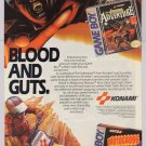 Castlevania Motocross Maniacs '80s PRINT AD Konami video games vintage advertisement Game Boy 1989