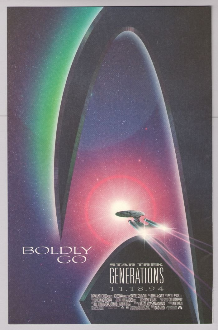 STAR TREK Generations '90s PRINT AD film movie science fiction advertisement 1994