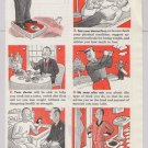 MetLife '40s old PRINT AD Metropolitan Life Webster comic art vintage ad 1948