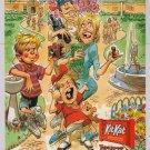 Kit Kat candy '90s PRINT AD Jack Davis art MAD Magazine fold-in style advertisement 1997