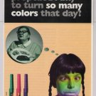 BIC Wavelengths pen '90s PRINT AD cafeteria lunchlady advertisement 1997