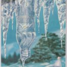 AQUAFINA bottled water '90s PRINT AD icicle advertisement 1997