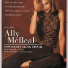 Calista Flockhart '90s PRINT AD Ally McBeal playful pose FOX television print ad advertisement 1998