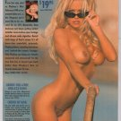 Pamela Anderson '90s PRINT AD nude sunglasses Playboy pinup advertisement naked Pam 1995