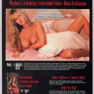Dian Parkinson '90s PRINT AD naked in bed Playboy video advertisement nude 1994