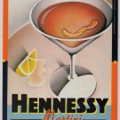 Hennessy Martini '90s PRINT AD alcohol recipe advertisement 1994