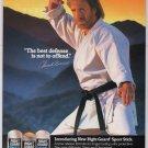 CHUCK NORRIS Right Guard '90s PRINT AD karate deodorant advertisement 1993