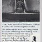 Jack Daniel's whiskey '90s PRINT AD bottle label alcohol advertisement 1990s