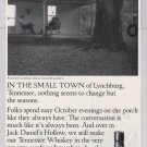 Jack Daniel's whiskey '90s PRINT AD sitting on porch alcohol advertisement 1990s